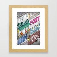 City Pangrams Framed Art Print