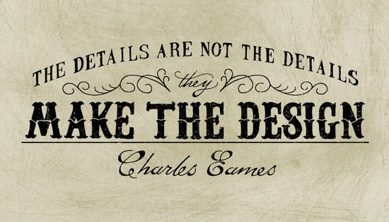 The Details are not the Details Art Print