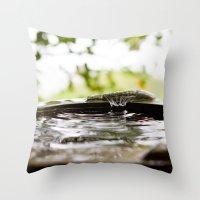 Rain Splash Throw Pillow