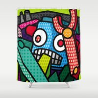 Artsy Bot Shower Curtain