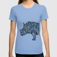 Rhino-no Text Womens Fitted Tee Athletic Blue SMALL