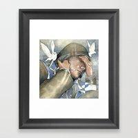 Dreams of freedom II, watercolor Framed Art Print