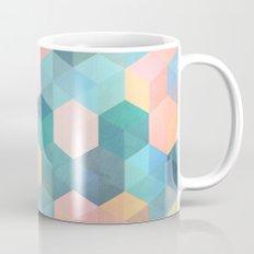Child's Play 2 - hexagon pattern in soft blue, pink, peach & aqua Mug