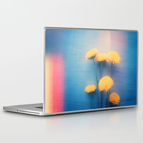 Little Yellow Flowers on a Blue Day Laptop & iPad Skin