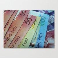 Philippine Cash Canvas Print