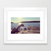 Dock Days Framed Art Print