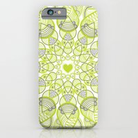 iPhone & iPod Case featuring Green Circle Pattern by Kate Webber