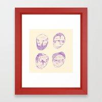Purple Heads  Framed Art Print