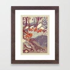 Fisher Fox Framed Art Print