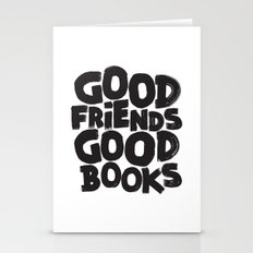 GOOD FRIENDS GOOD BOOKS Stationery Cards