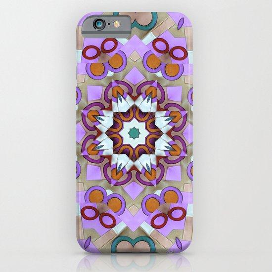 Pink Retro Leather Mandala iPhone & iPod Case