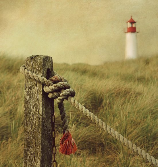 To the Lighthouse (textured) Art Print