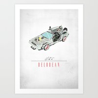 The Delorean Art Print