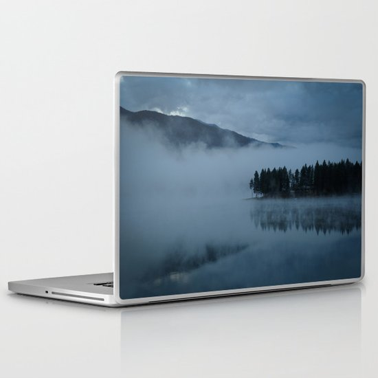 Foggy lake morning Laptop & iPad Skin