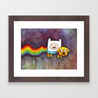Nyan Time with Jake and Finn Framed Art Print