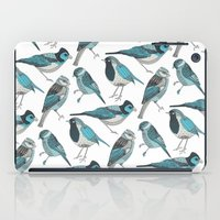 Pale Green Birds iPad Case