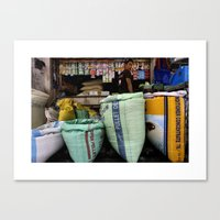 Color Market Canvas Print