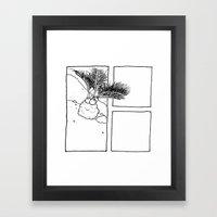 Miniature Palm Tree Framed Art Print