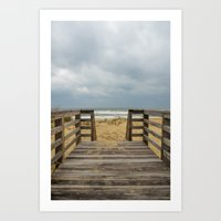 Draw Me Into The Sea Art Print