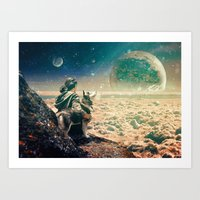 Watching Closely Art Print
