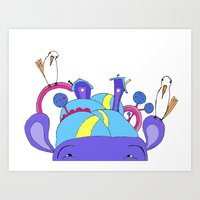 House on Hippo Art Print