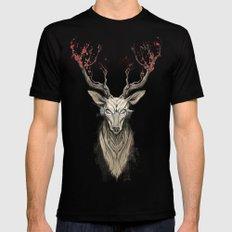 Deer tree SMALL Mens Fitted Tee Black