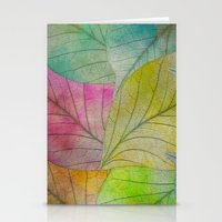 Pattern Of Colorful Leav… Stationery Cards