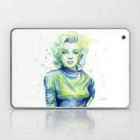 Marilyn Portrait Watercolor Painting Laptop & iPad Skin