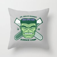Dr. Banner Science Camp Throw Pillow