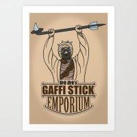 Urk Urk's Gaffi Stick Em… Art Print