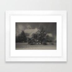 Home Covered in Snow Framed Art Print
