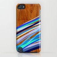 Wooden Waves Blue iPod touch Slim Case
