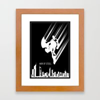Superman Man of Steel Poster Framed Art Print