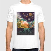Another Dimension Mens Fitted Tee White SMALL