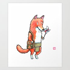 Pinwheel Fox Art Print