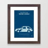 No211 My Waynes World minimal movie poster Framed Art Print