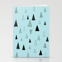 Raining Triangles Stationery Cards