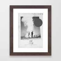 Love Is To Die | Collage Framed Art Print