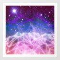 Grid Galaxy Art Print