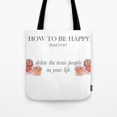 Rules of happiness Tote Bag