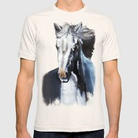 Horse Ghost Mens Fitted Tee Natural SMALL