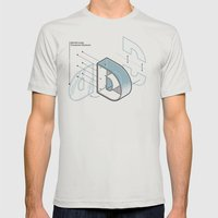 The Exploded Alphabet / D Mens Fitted Tee Silver SMALL