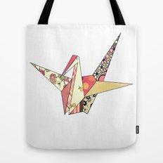 Floral Origami Tote Bag
