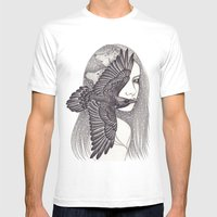 Crow Mens Fitted Tee White SMALL