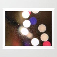 Lights. Art Print