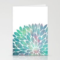 Watercolor Flower Stationery Cards