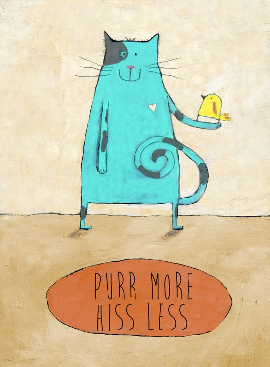 Purr More Hiss Less Canvas Print