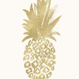 Art Print - Gold Pineapple - CRYSTAL WALEN