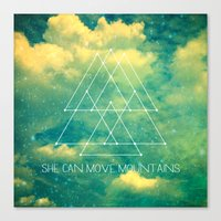 She Can Move Mountains Canvas Print