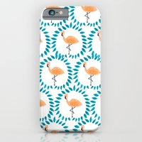 Flamingo And Leaves iPhone 6 Slim Case